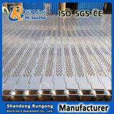 Correia transportadora perfurada lig placa de aço inoxidável 304