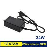 24W 12V 2A Wechselstrom-Laptop-Energien-Adapter-Notizbuch-Aufladeeinheit