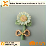 Flores de porcelana para artesanato girassol de cerâmica para decoração de casamento