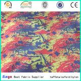 PU recubierto de 100% de poliéster impermeable Jacquard FDY tela impresa con cationes de materiales
