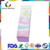 Cadre se pliant cosmétique en gros d'impression de couleur de Cmyk du papier 350g enduit pour l'endroit mat de Laminaton de poudre de face UV