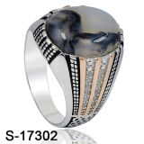 상한 디자인 보석 반지 은 925