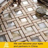 Mosaico della miscela della pietra di Travertino con di cristallo 8mm