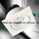 luz cuadrada de la llanura ligera de techo de 7W 9W LED con la MAZORCA del CREE