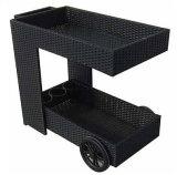 Курган колеса гостиницы ротанга напольной крытой мебели трактира сада Handmade обедая тележка /Car