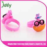 Moda anillo de dedo de plástico simple mujeres de lujo de los anillos