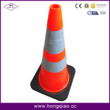 Straßen-Gummiplastikverkehrssicherheit-Kegel