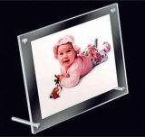 PMMA映像のゆとりのアクリル磁気円形の写真フレームをカスタマイズしなさい