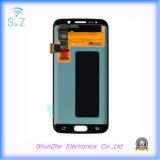 Мобильный телефон LCD для края галактики S6 Samsung показывает агрегат