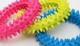 Juguetes de goma del animal doméstico del círculo del anillo de la espina de TPR