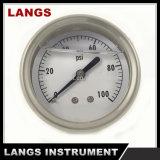 019の液体によって満たされる圧力計