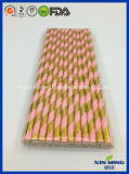 Birthday Party Decoration and Rose Gold Foil Strip Paper Straw
