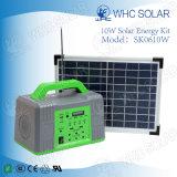 Sistema di illuminazione verde solare di mini formato portatile 10W