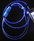 Наушник освещения стерео шлемофонов цветастый СИД в-Уха с Mic