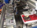 Cuoio di TM-C4-CT 4-Color e stampatrice elettrica a bassa tensione del rilievo con il trasportatore