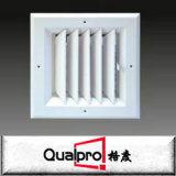 a grade de ar de alumínio da grade amplamente utilizada da fonte com opor a grade da deflexão do dobro do amortecedor da lâmina