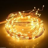 360 Direction blanc chaud Guirlande LED Starry Fée Éclairage flexible Cuivre Parti fil