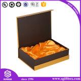Nudo de lujo plegable del arqueamiento del lazo de la ropa que empaqueta el rectángulo de regalo de Perper