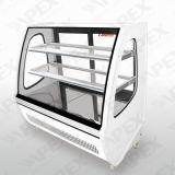 Showcase do refrigerador da pastelaria do indicador da padaria de duas prateleiras com compressor de Embraco