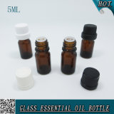 5ml Mini Cylinder Amber Knell Dropper Essential Oil Bottle