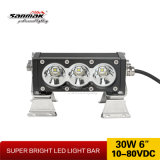 heller Stab der Qualitäts6 '' 30W bernsteinfarbiger LED für nicht für den Straßenverkehr 4X4