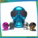Goldener Schädel metallischer drahtloser Bluetooth Lautsprecher
