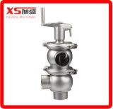 Санитарный гигиенический клапан подачи отклонителя нержавеющей стали Ss304 Ss316L пневматический