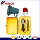 セリウムCerficateが付いている耐候性があるVoIPのトンネルの電話Knsp-08産業電話