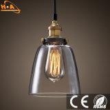 Lumière pendante en verre de lampe bon marché globale simple de cru