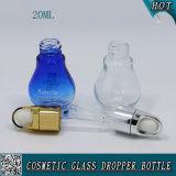 20ml effacent la bouteille cosmétique en verre de compte-gouttes d'huile essentielle