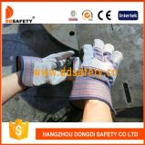 Ddsafety 2017の牛のそぎ皮作業手袋の縞の綿のドリルの安全手袋
