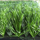 Herbe artificielle avec la bonne position pour le terrain de football avec des couleurs mélangées