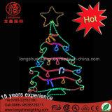 Luz clara do motivo da árvore de Natal do diodo emissor de luz 2D do fornecedor do feriado para a decoração interna e ao ar livre