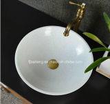 Bassin de marbre blanc en cristal d'importation de salle de bains
