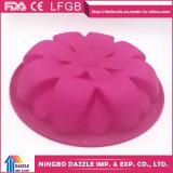 Muffe della torta delle muffe di cottura della torta del silicone di figura del fiore
