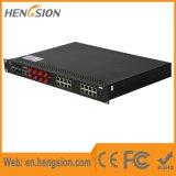 8 섬유 4 기가비트 SFP를 가진 처리된 산업 이더네트 네트워크 스위치