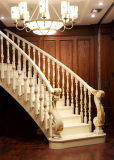 Лестница твердой древесины естественной охраны окружающей среды белая