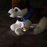 Nuovo indicatore luminoso di Keychain dell'animale domestico di figura della stampa della zampa di modo