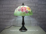 Rose Design Modern Tiffany lâmpadas de mesa com tonalidades de vidro