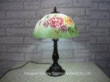 Rose Design Lámparas de mesa modernas Tiffany con tonos de vidrio