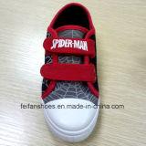 Школа ботинок холстины шаржа человек-паука малыша обувает ботинки спорта (FF921-3)
