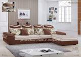 Tissu L sofa de forme pour la salle de séjour