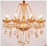 Candelabro de cristal da vela Home do diodo emissor de luz da decoração (RHT-CC01)