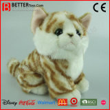 Weiches Spielzeug-lebensechte angefüllte Ingwertabby-Katze