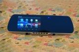O G-Sensor 1080P de 5 IPS da polegada Dual o carro DVR do espelho da lente