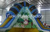 子供の運動場の屋外の巨大な商業膨脹可能な水乾燥したスライド(RC-014)