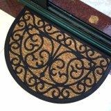 ゴムの反スリップの非スキッドによって編まれるパナマ性質のファイバーは型によって刻まれるゴム背部か非支持されたか裏付けのスリップのココヤシのシュロのココナッツファイバーの玄関マットを浮彫りにする