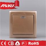 Interruttore chiaro bronzato del montaggio di superficie di colore per il servizio europeo