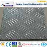 Chapa de aço inoxidável decorativa Checkered gravada (201 202)