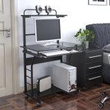 Innenministerium-mobiler Computer-Schreibtisch mit Glastischplatte